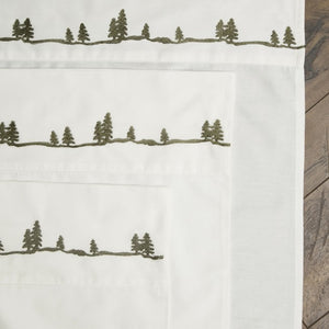 Embroidered Pine Sheets Carstens - unique linens online