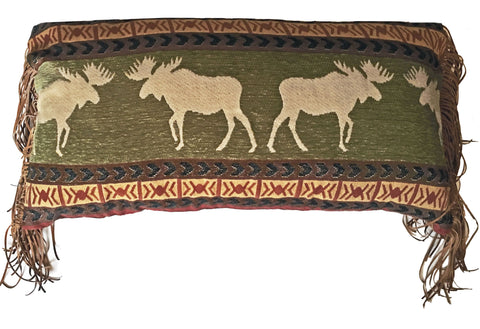 Ontario Wilderness Oblong Moose Pillow Carstens - unique linens online