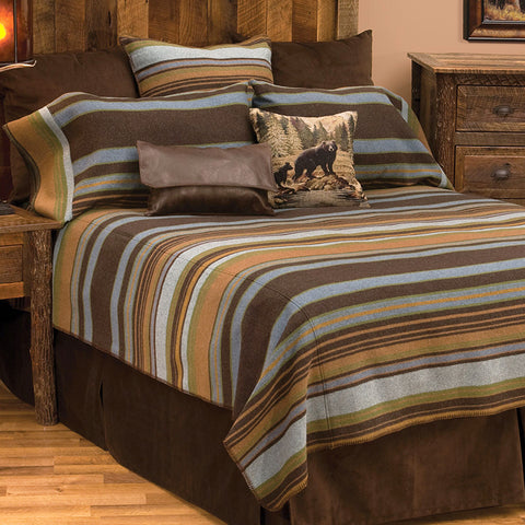 Hudson II Bedspread Wooded River - unique linens online