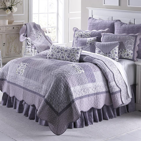 Lavender Plaid Quilt Set - unique linens online