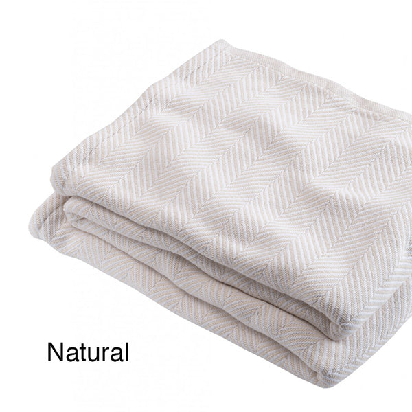Madison Cotton Blankets - unique linens online
