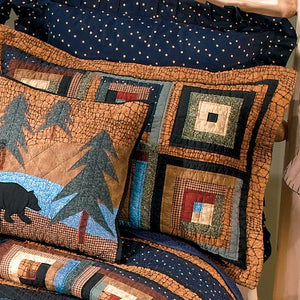 Midnight Bear Shams - unique linens online