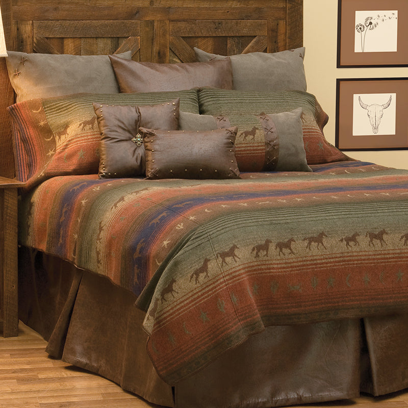 Mustang Canyon II Bedspread Wooded River - unique linens online