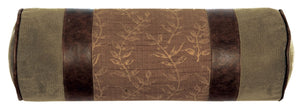 Autumn Leaf Neckroll Wooded River - unique linens online