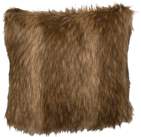 Coyote Fur Pillow Wooded River - unique linens online