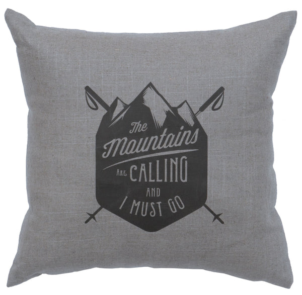 Mtns Are Calling Decorative Linen Pillow Wooded River - unique linens online