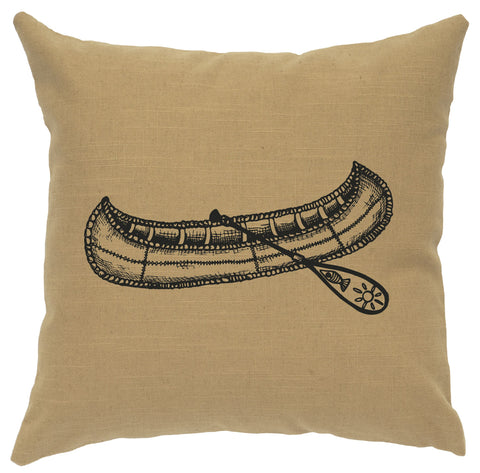 99Canoe Decorative Linen Pillow Wooded River - Unique Linens Online
