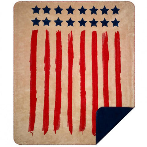 Old Glory Denali Blanket - unique linens online