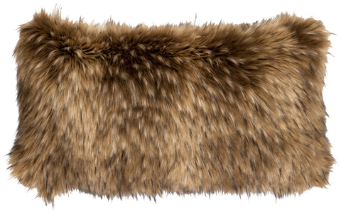 Coyote Fur Oblong Pillow Wooded River - unique linens online