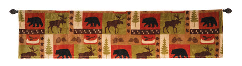 Patchwork Lodge Valance Carstens - unique linens online