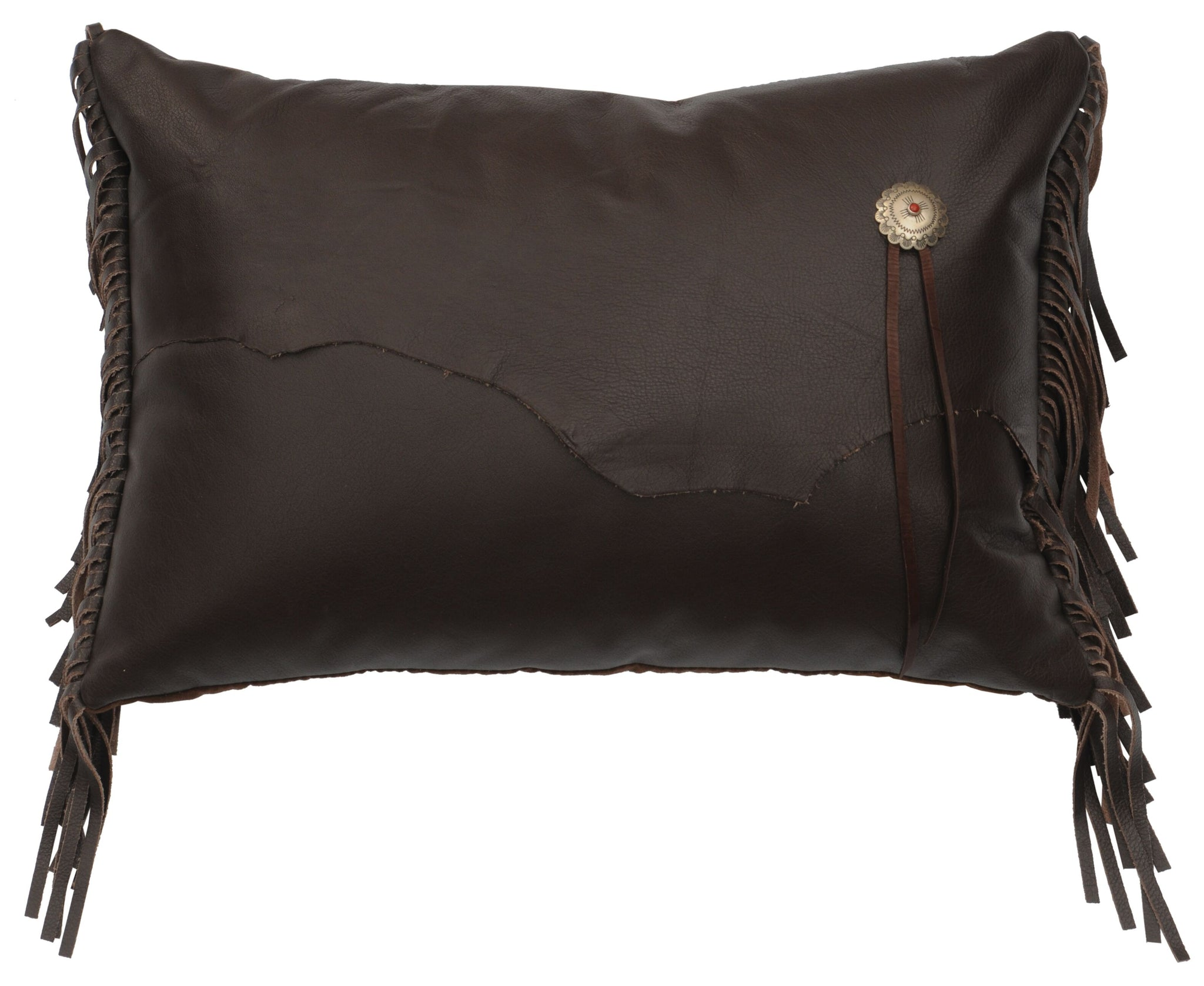 Leather Pillows Wooded River WD80259 - unique linens online