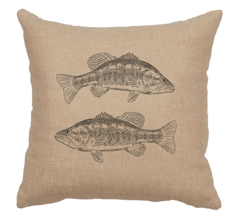 2 Bass Decorative Linen Pillow Wooded River - unique linens online