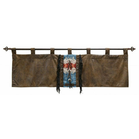 Turquoise Chamarro Valance Carstens - unique linens online