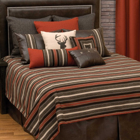 Red Pepper Bedspread Wooded River - unique linens online