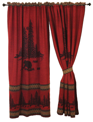 Wooded River Bear Drape Sets Wooded River - unique linens online
