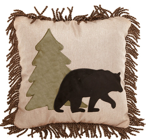 Bear and Tree pillow Carstens - unique linens online