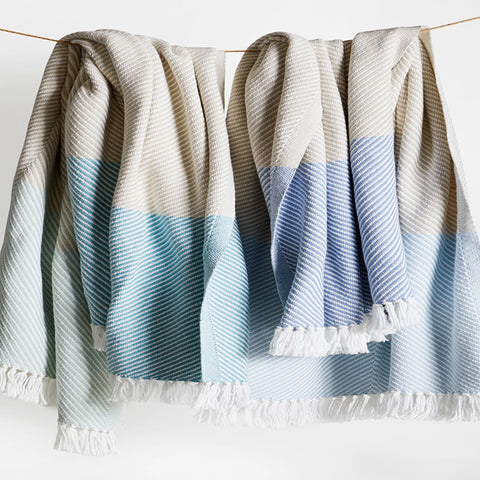 Sugarloaf Cotton Throws - unique linens online