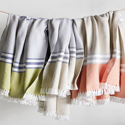 Allagash Cotton Throws - unique linens online