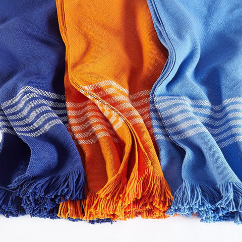 Pembroke Cotton Throws - unique linens online