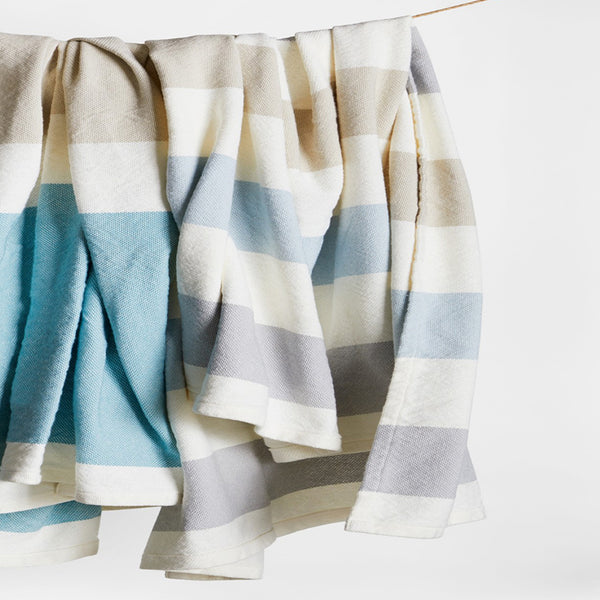 Walker's Point Cotton Blanket / Linen Day Blanket - unique linens online