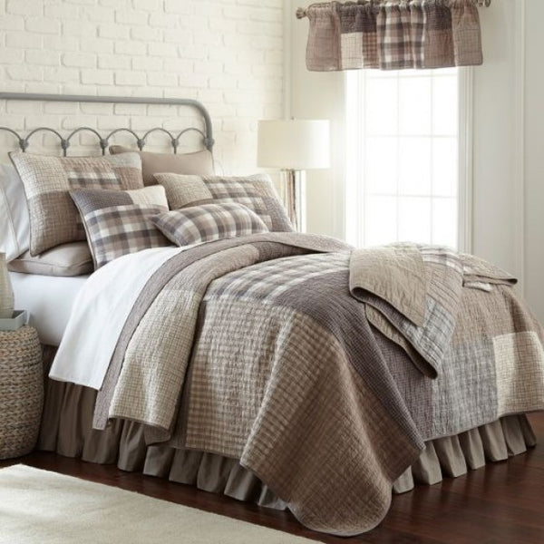Smoky Square Cotton Quilt Set - unique linens online