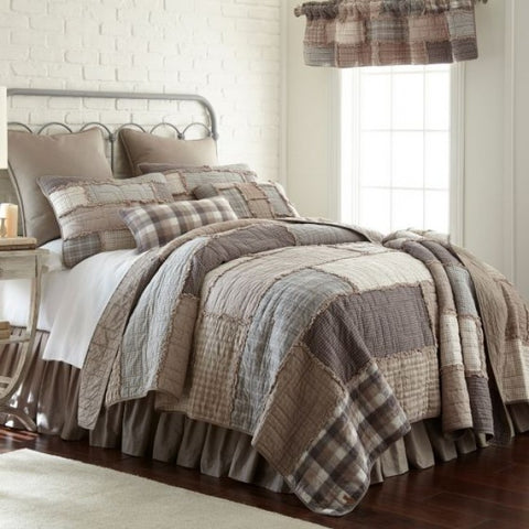 Smoky Cobblestone Cotton Quilt Set - unique linens online