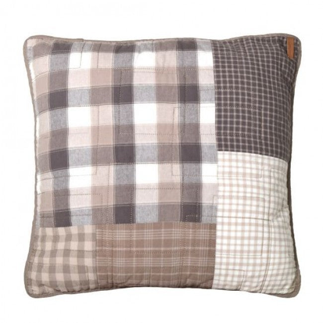 Smoky Square Quilted Pillow - unique linens online