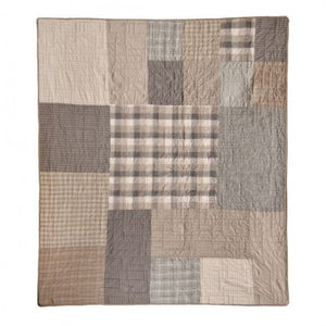 Smoky Square Throw - unique linens online