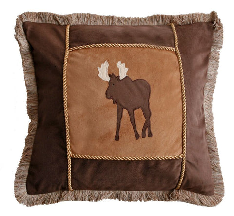 Adobe & Brown Moose Pillow Carstens - unique linens online