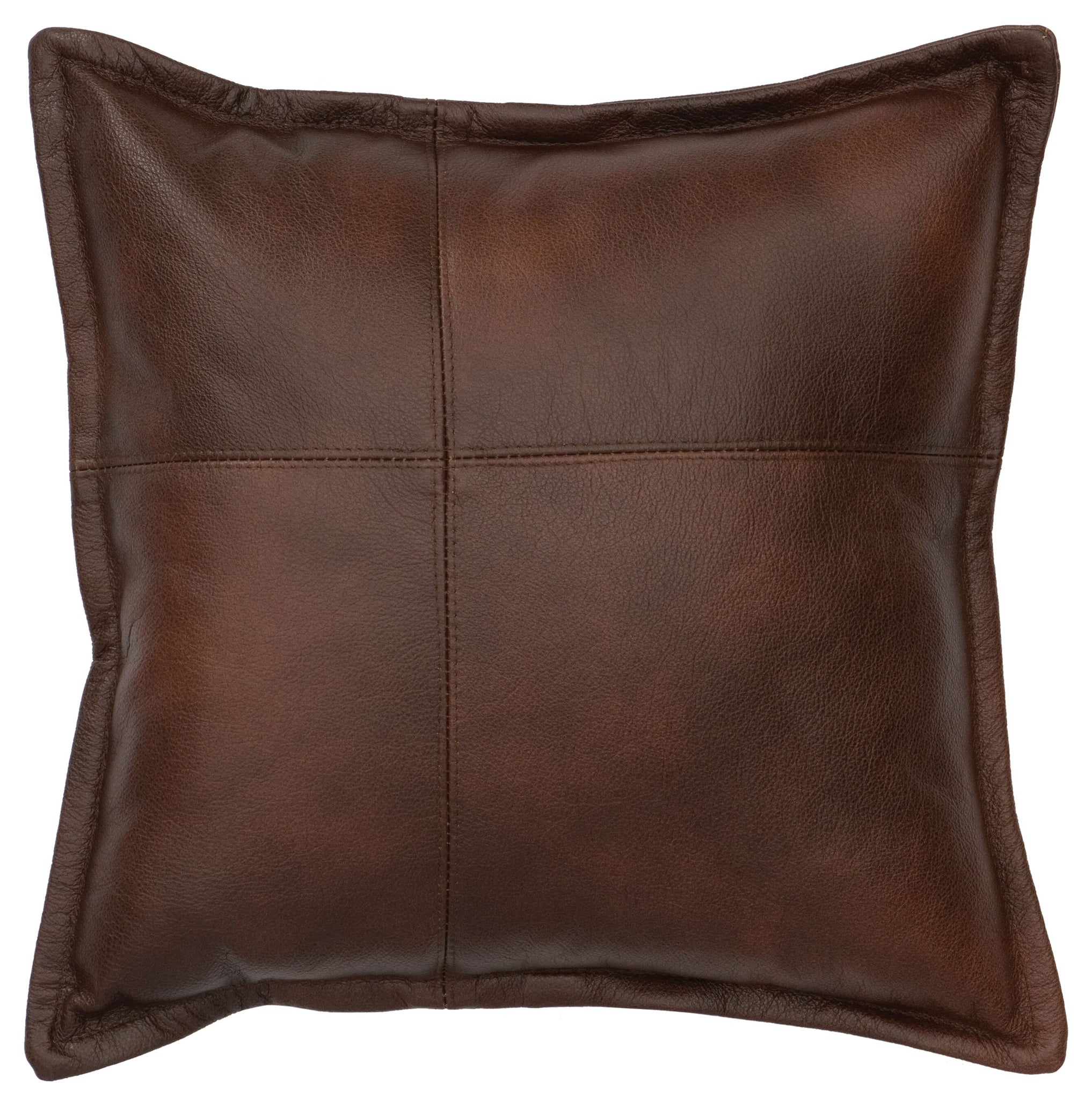 Leather Pillow Wooded River WD80258 - unique linens online