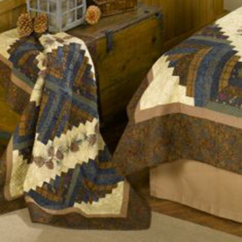 Cabin Raising Pinecone Throw - unique linens online