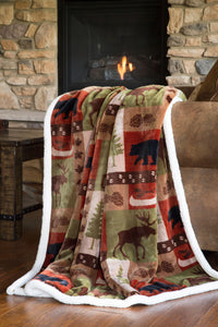 Patchwork Lodge Throw Carstens - unique linens online