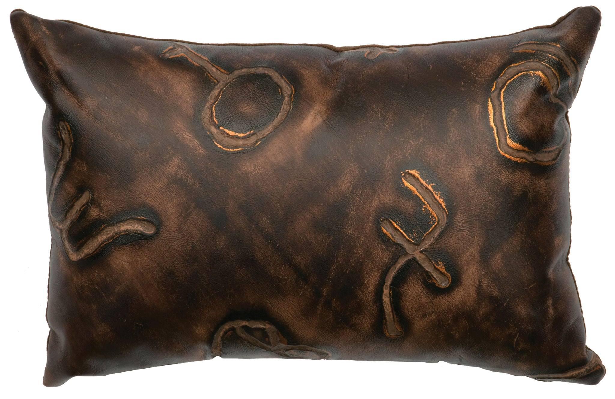 Leather Pillow Wooded River WD80201 - unique linens online