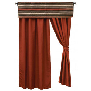 Red Pepper Drapes Wooded River - unique linens online