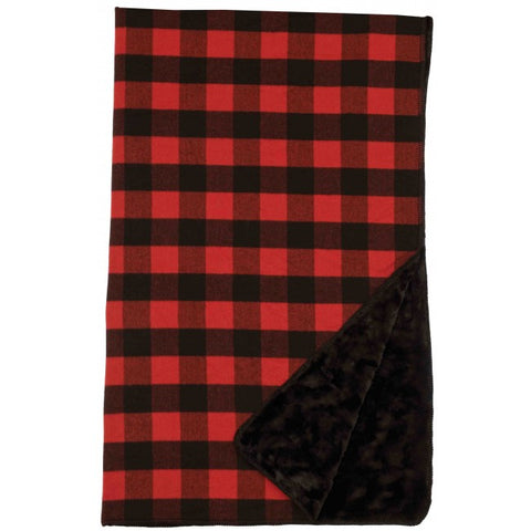 Ponderosa Buffalo Plaid Throw Wooded River - unique linens online