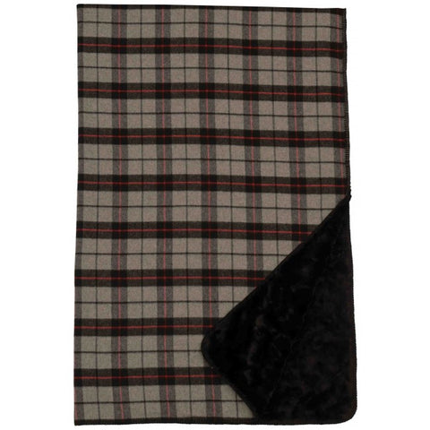 Ponderosa Plaid Throw Wooded River - unique linens online