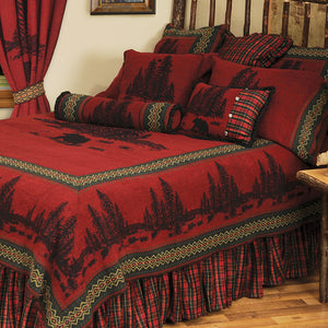 Wooded River Bear Bedspread Wooded River - Unique Linens Online