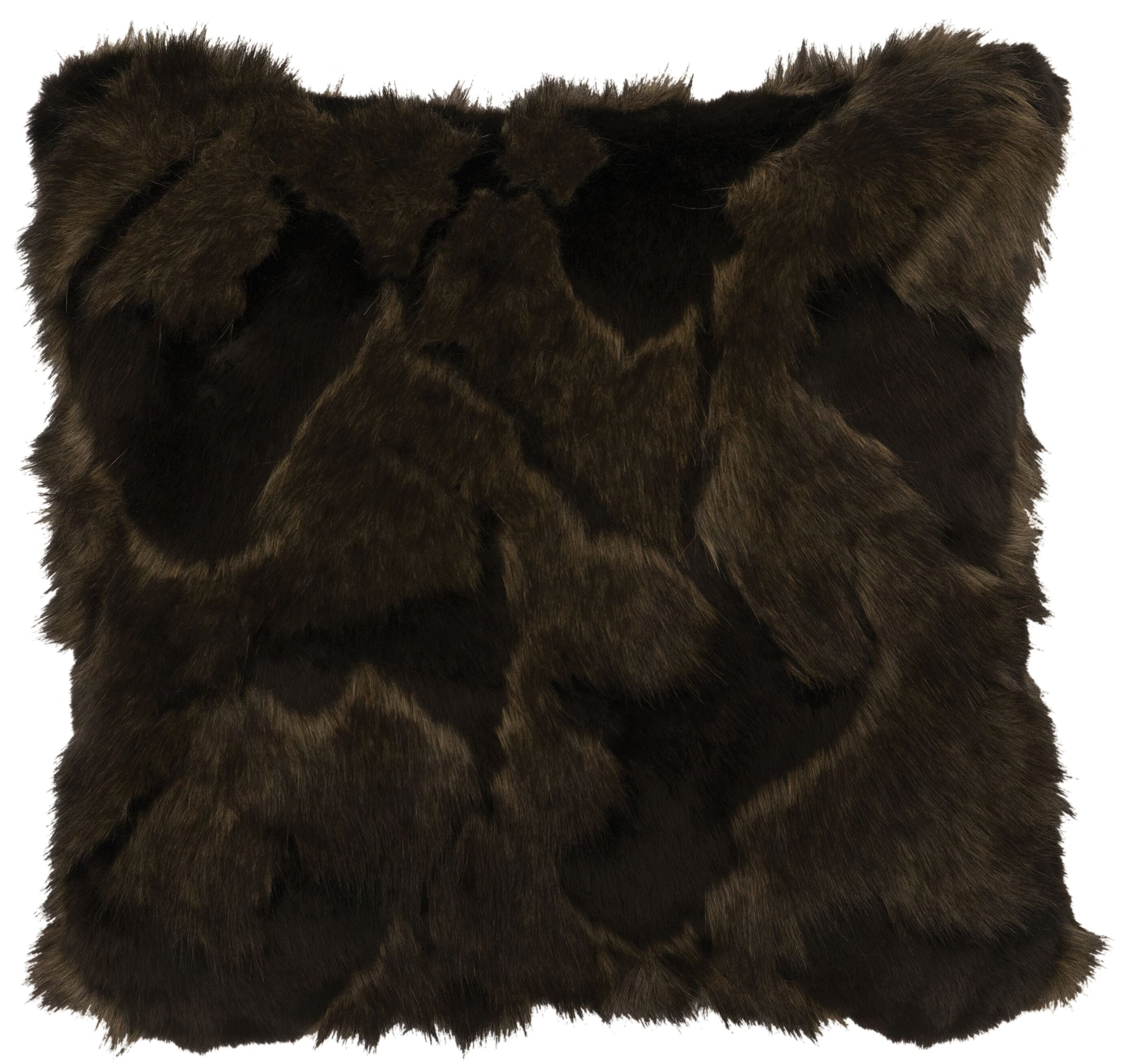 Onyx Marbled Fox Faux Fur Wooded River - unique linens online