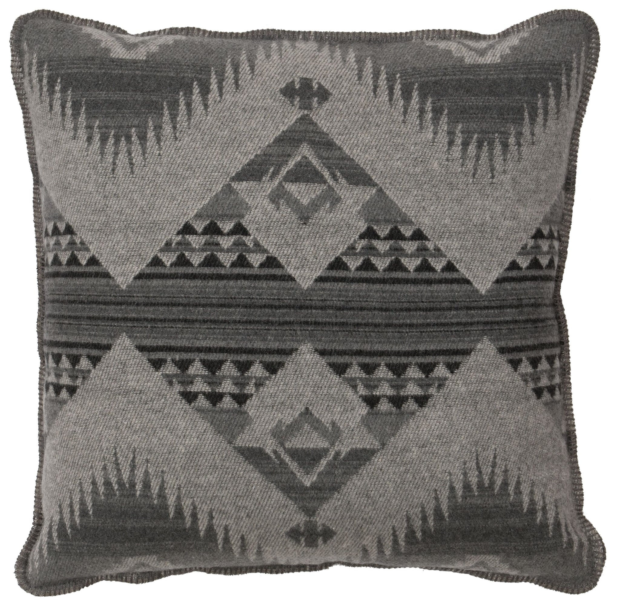 Geronimo Haze Alt Euro Sham Wooded River - unique linens online