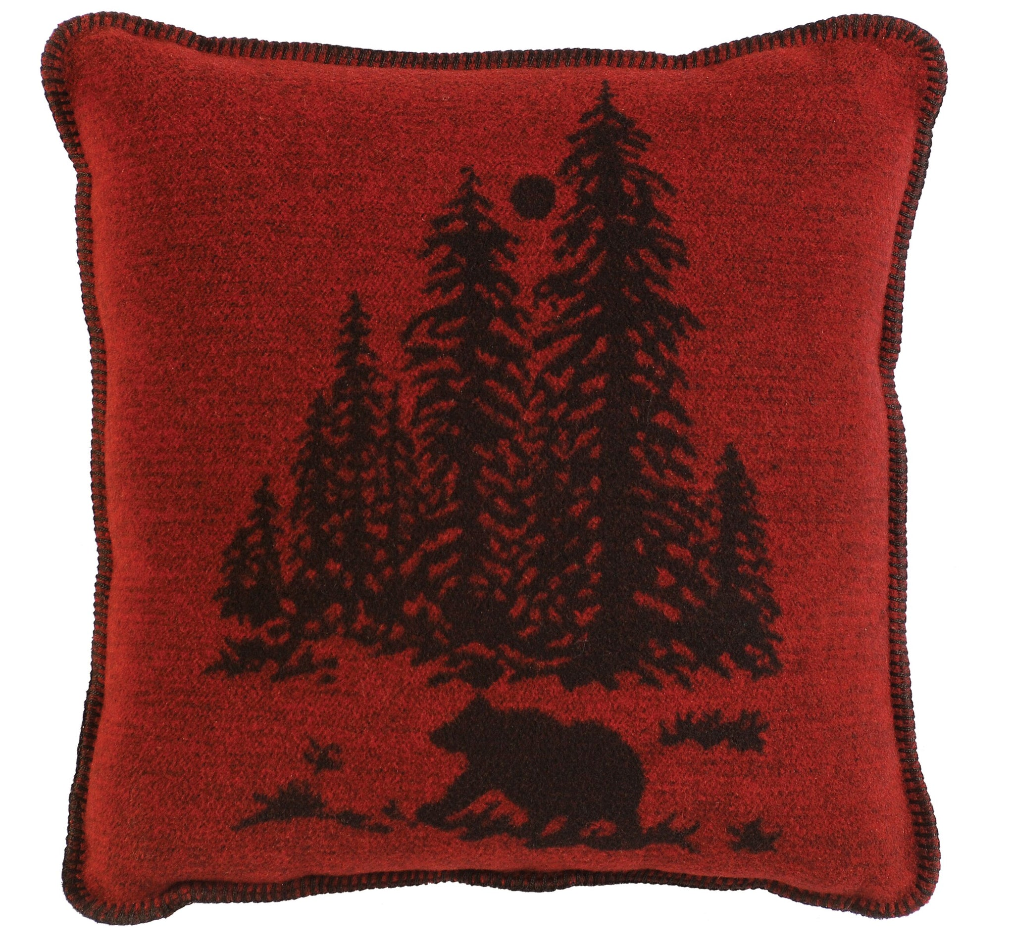 Wooded River Bear Pillow Wooded River - unique linens online