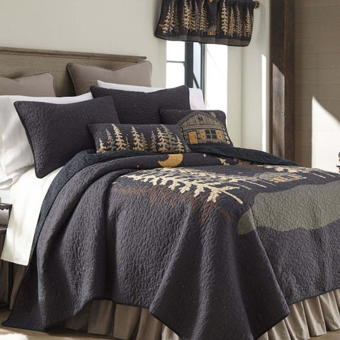 Moonlit Cabin Cotton Quilt Set - unique linens online