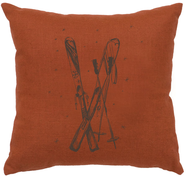 Ski's Decorative Linen Pillow Wooded River - unique linens online