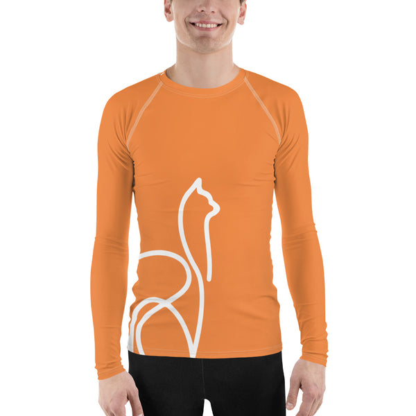 llamaste activewear men's long sleeved shirt (orange)