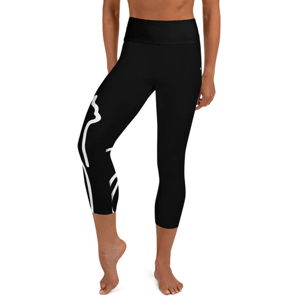 llamaste yoga capri leggings (onyx)