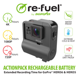9hr ActionPack Extended Battery for GoPro HERO7 Black, HERO6 Black, HERO5 Black & HERO camera