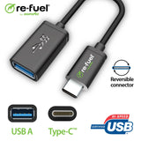 Type-C to USB Adapter (3A/15watt)