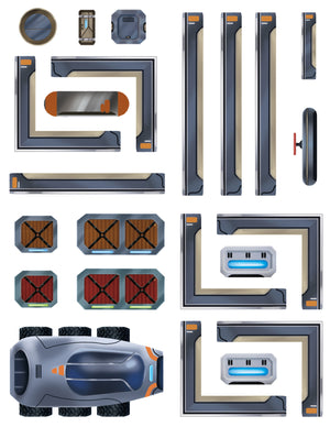 Sci-Fi Re-usable Sticker Sheet PRE ORDER