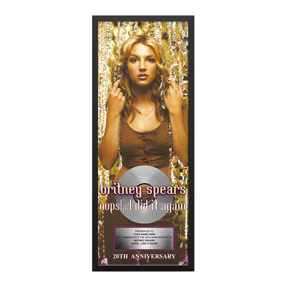 Oops I Did It Again Anniversary Plaque Britney Spears Official Store