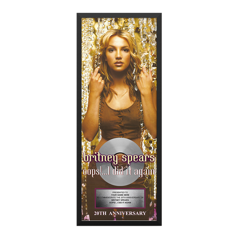 Oops!... I Did It Again Anniversary Plaque