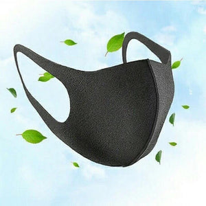Face Cover Black Reusable Stretchable Anti-Dust Washable Unisex Protective Mouth Cover